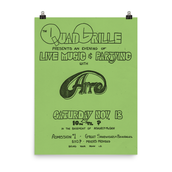 Quad Grille with Aire Poster