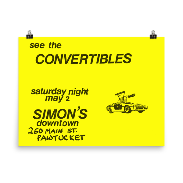 Convertibles Simons Poster