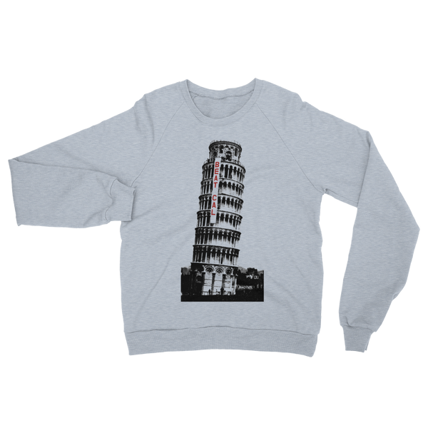 Leaning Tower of Beat Cal T-Shirt Raglan Sweater 1960