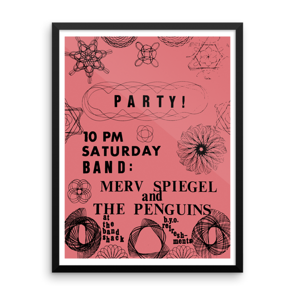 Merv Party Framed Poster