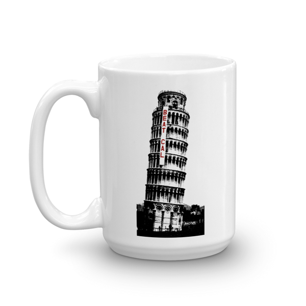 Leaning Tower of Beat Cal Mug 1960