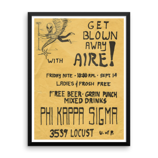 Blown Away With Aire Framed Poster