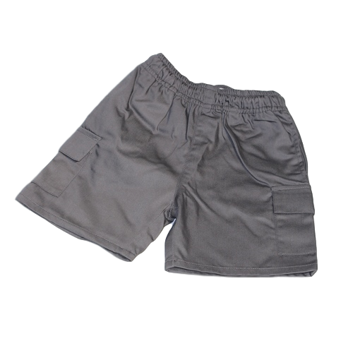 Boys Grey organic short cargo