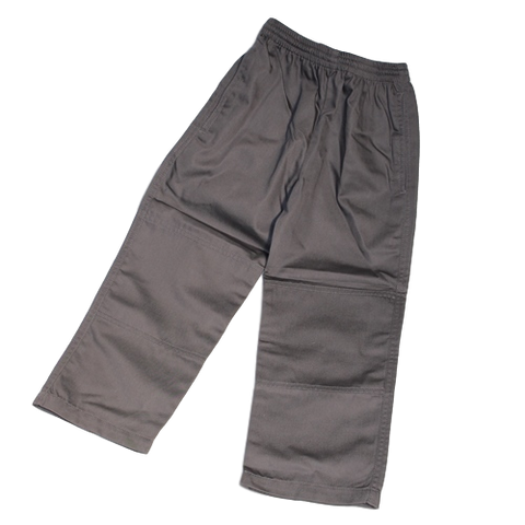 Long Winter Pants Double Knee - Grey