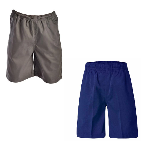 Unisex Grey or Royal Blue Gaberdine Short