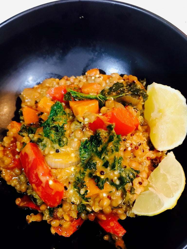 Quinoa and Lentil Red Curry - Vegan