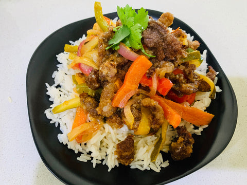 Dry Fried Chilli Beef with Rice- GF