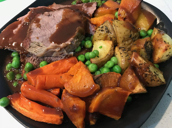 Roast Beef with vegetables and gravy-frozen
