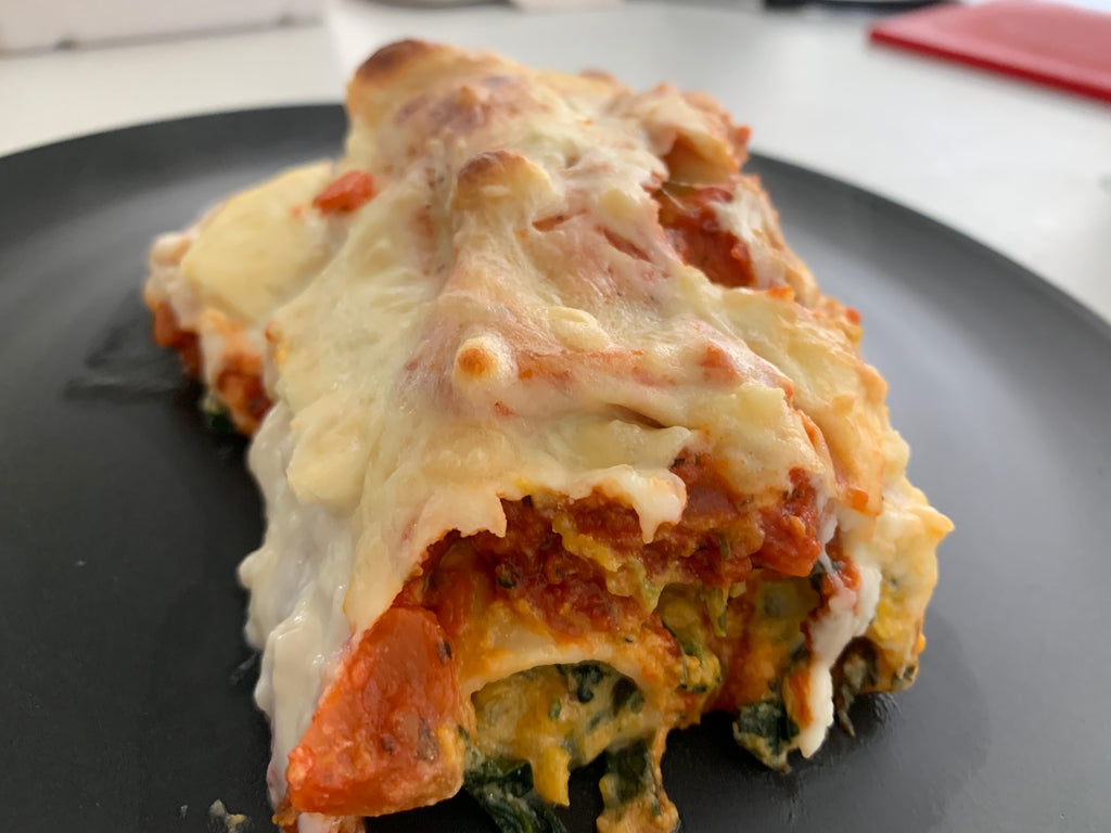 Vegetarian Pumpkin, Spinach and Ricotta Cannelloni- frozen