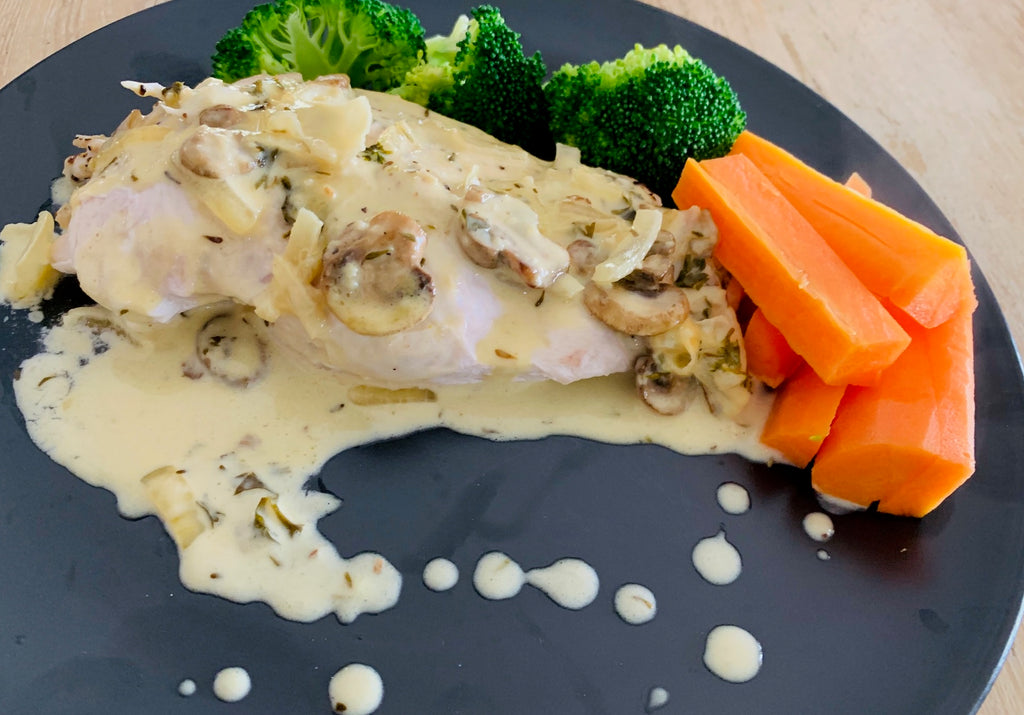 Chicken Diane with Garlic Sauce and Veggies-GF