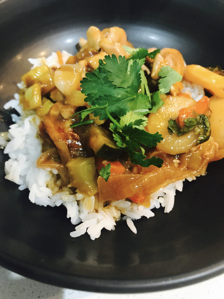 Stir Fry Mongolian Chicken with Rice