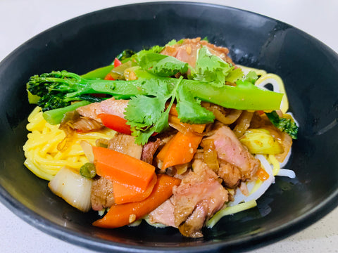 Peking Duck Stir Fry with Cauli Rice - Keto