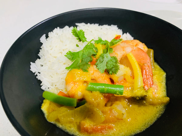 Mango Prawns with Rice-frozen