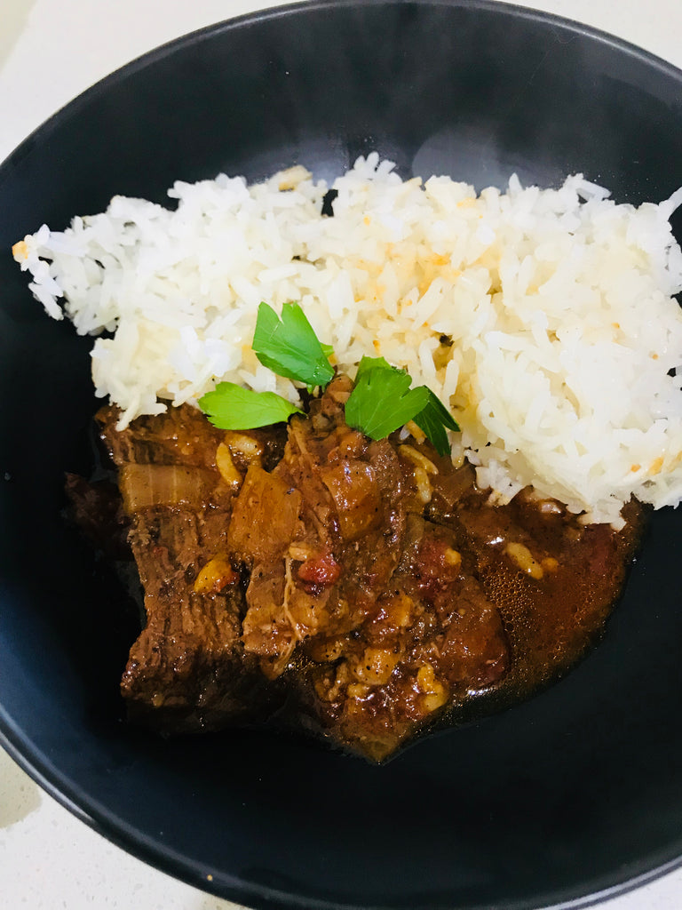Persian Style Beef with Cauli Rice -Keto