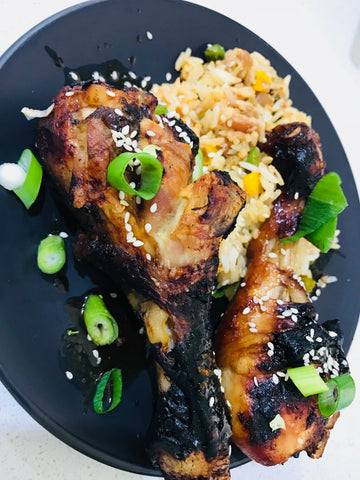 Asian Chicken Drumsticks with Fried Rice- frozen