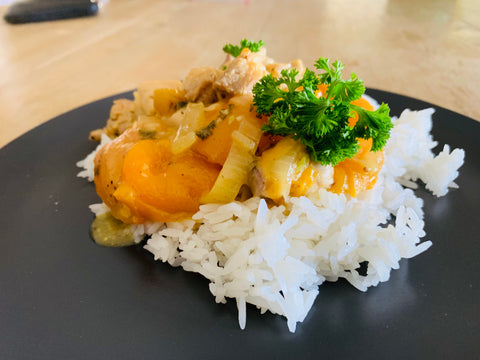 Apricot Chicken Casserole with Rice