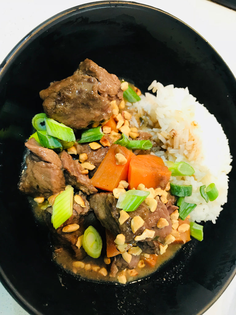 Beef Massaman Curry with Rice - GF - frozen