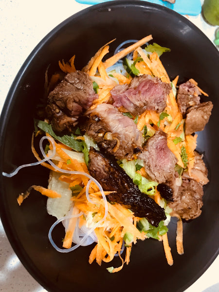 Salad - Lemongrass Lamb with Vietnamese Vermicelli Noodles