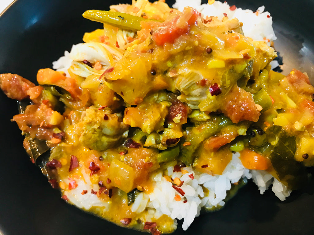South Indian Chicken with Rice