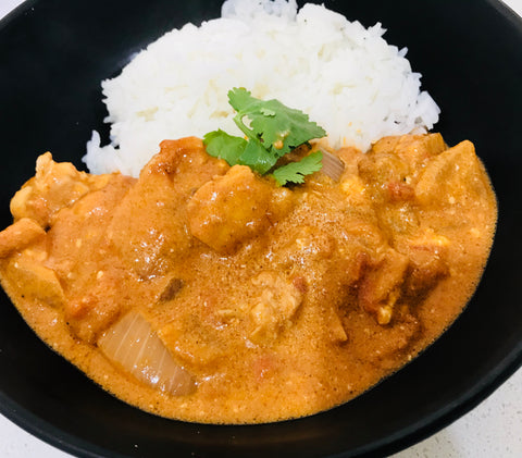 Indian Butter Chicken with Cauliflower  Rice - Keto - GF-frozen
