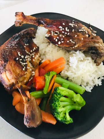 Twice Cooked Sticky Duck Legs