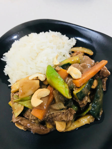 Chinese Beef with Cashews