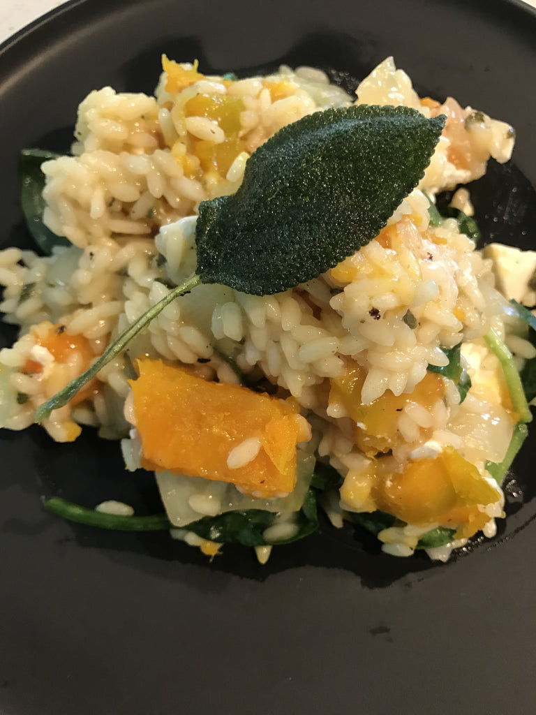 Pumpkin, Sage and Feta Risotto - Vegetarian GF