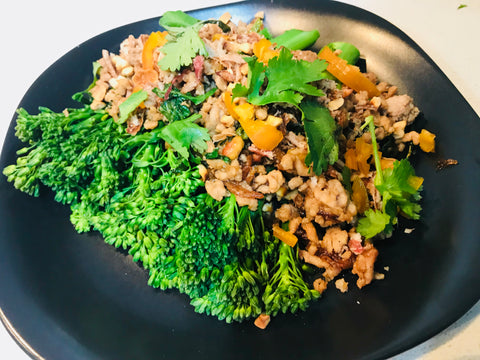 Sticky Thai Pork with Broccolini
