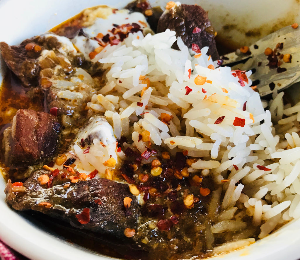 Cambodian Beef with Rice