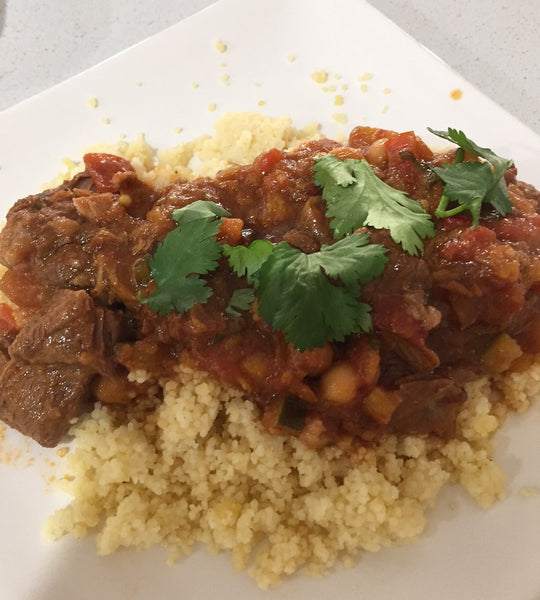 Moroccan Lamb and Apricot Tagine with Couscous