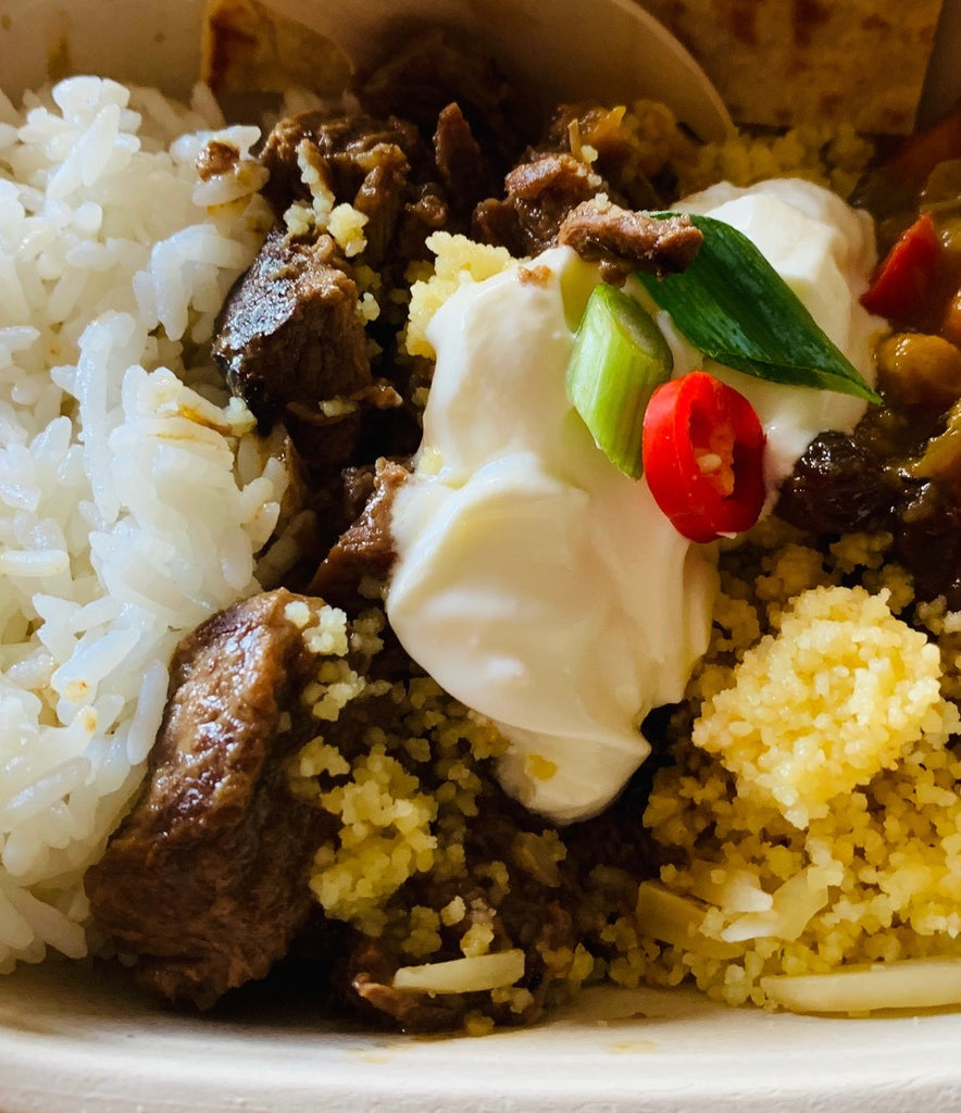 Beef Rendang Curry with Rice- frozen