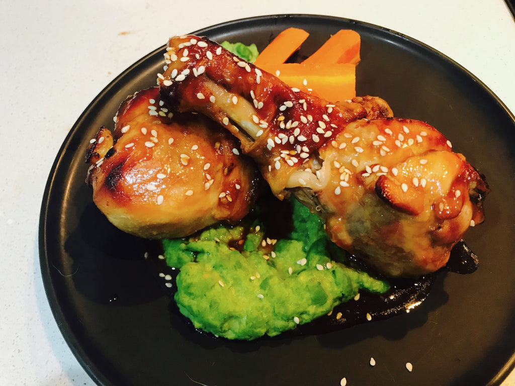 BBQ Glazed Drumsticks with Veg-frozen