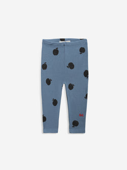 Bobo Choses ICONIC BABY |  Poma allover blue leggings