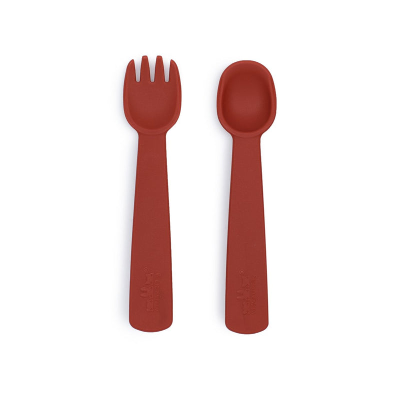 NEW! We Might Be Tiny | Feedie Fork & Spoon Set - Rust