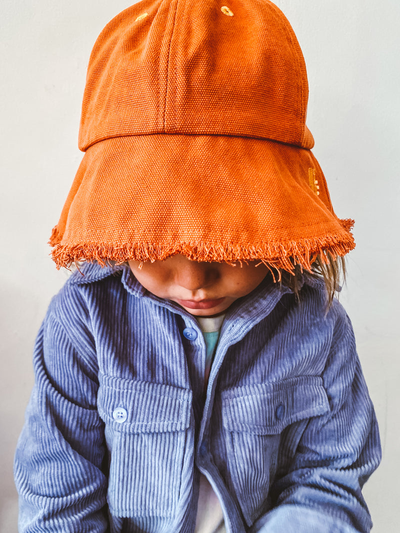 Little Fella Rebels | Fringe Summer Hat Orange