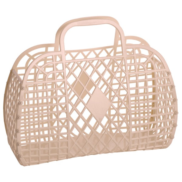 Sun Jellies | Retro Basket LARGE - Latte
