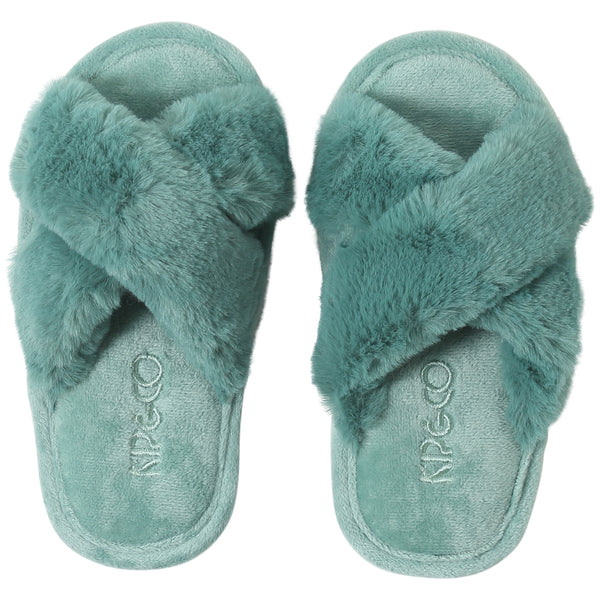Kip and Co Jade Green kids slippers
