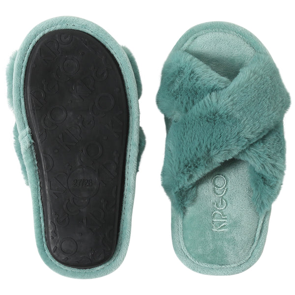KIP & CO | JADE GREEN KIDS SLIPPERS