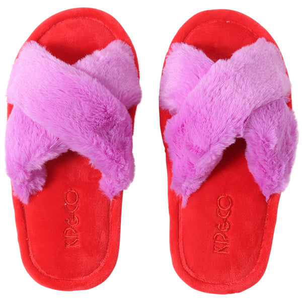 Kip and Co Raspberry Bubble kids slippers