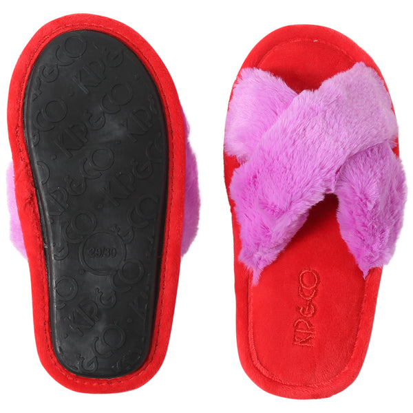 KIP & CO | RASPBERRY BUBBLE KIDS SLIPPERS