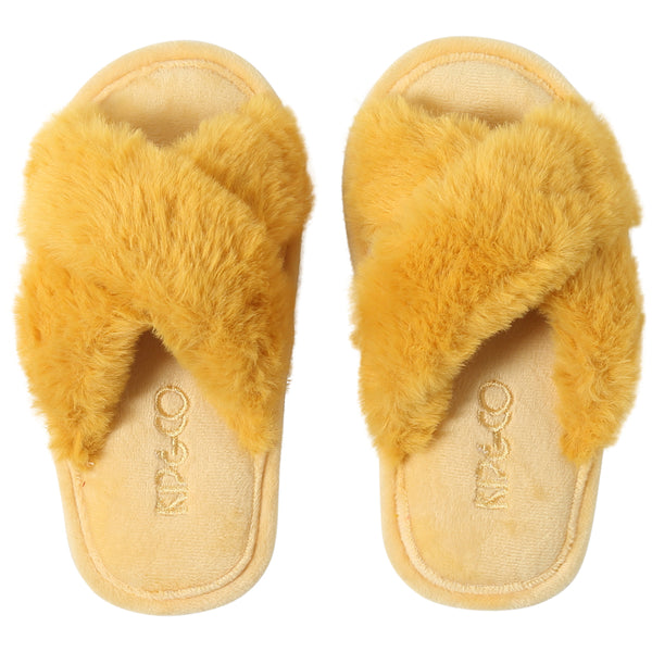 Kip and Co Yellow kids slippers