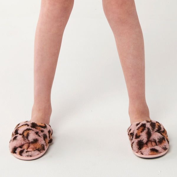 KIP & CO |  Pink Cheetah Slippers KIDS