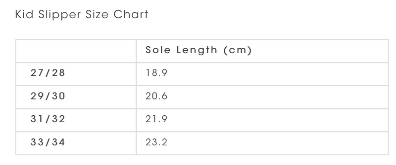Kip and Co size chart