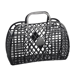 Sun Jellies | Large Retro Basket - Black