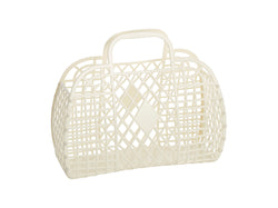 Sun Jellies | Large Retro Basket - Cream
