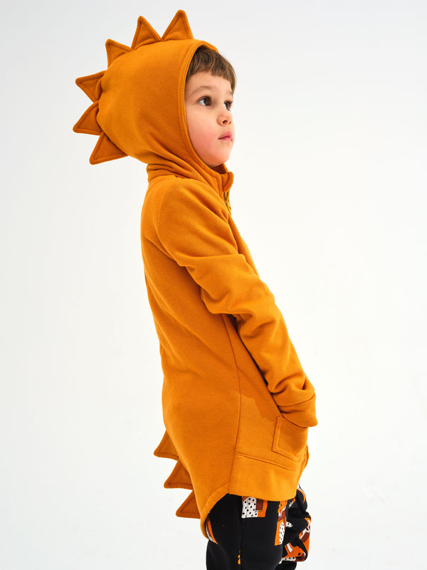 Kukukid | DINO HOODIE COTTON HONEY