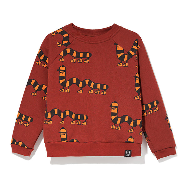 Kukukid | SWEATSHIRT BROWNO MILLIPEDE