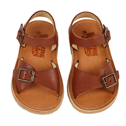 Young Soles | Sonny Sandal  - Chestnut Brown