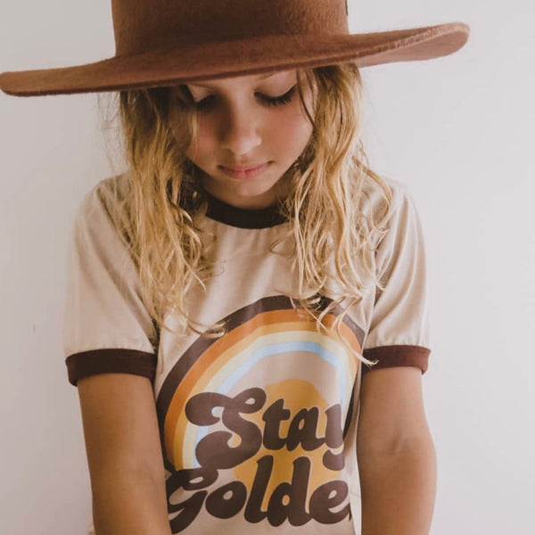 Suede Daze | Stay Golden Ringer Tee