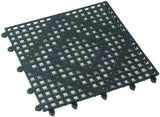 "Winco BML-12K Black 12"" X 12"" Interlocking Bar Mat"